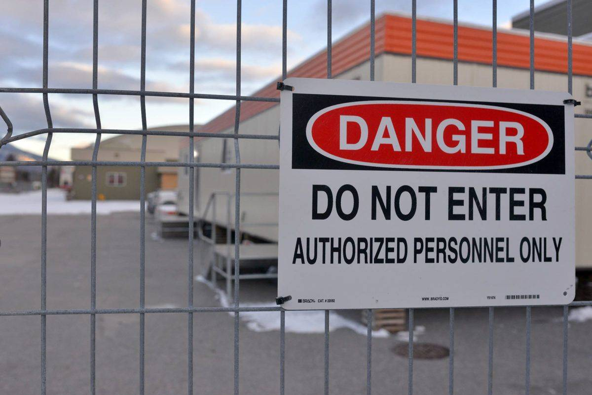 The Fernie Memorial Arena remains locked down while the investigation continues. Phil McLachlan/The Free Press