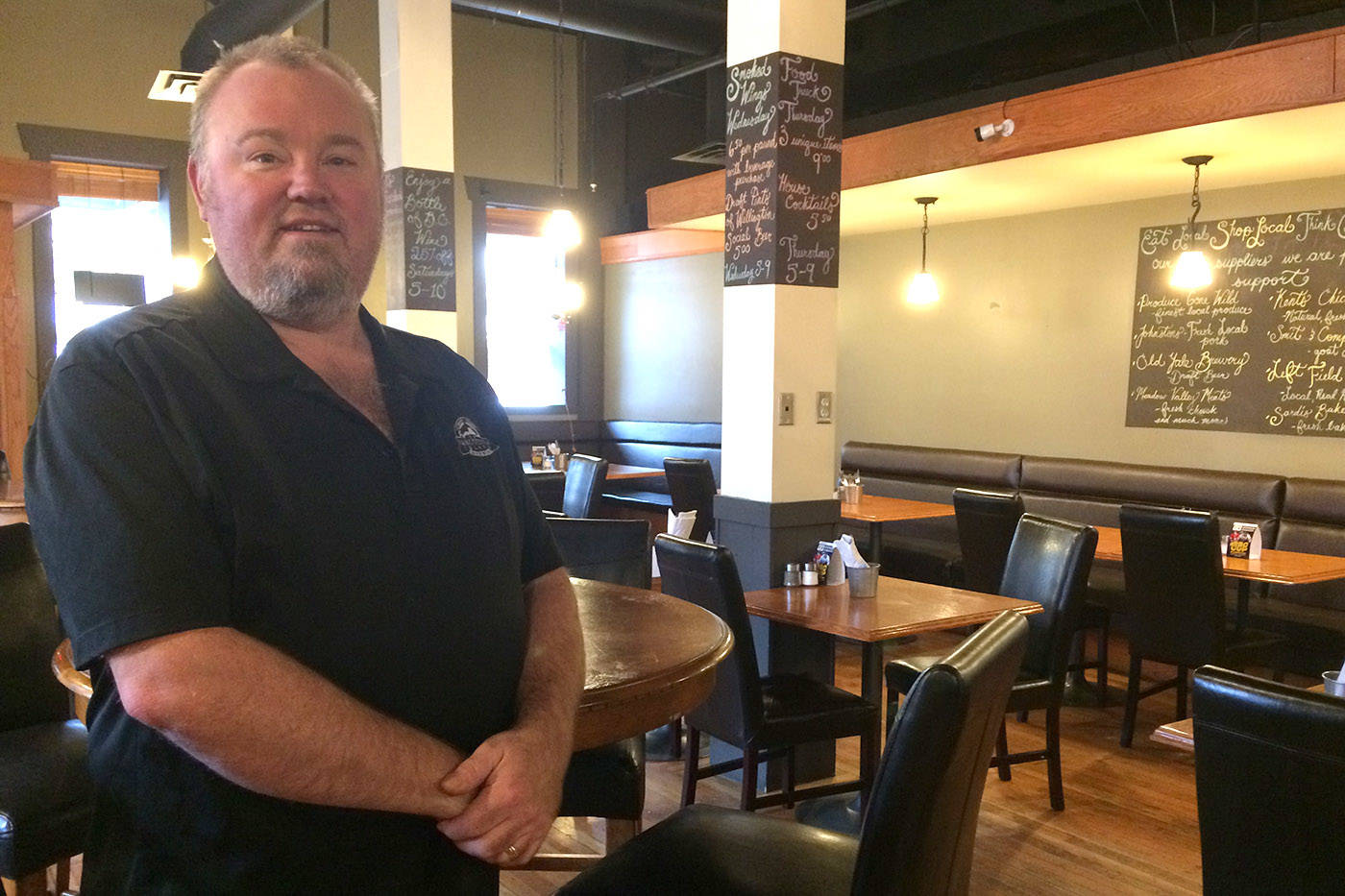 Kerry Krahn, owner of the Wellington Social House downtown Chilliwack, is looking to his customers for a new name following a cease and desist letter from the competition. (Jessica Peters/ The Progress)