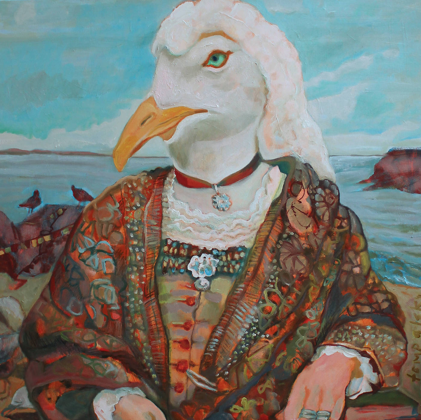 The Queen, one of about 30 paintings created by artist Sherry Tompalski for the Sex and the Single Seagull show at Gage Gallery starting Feb. 14. (Submitted image)