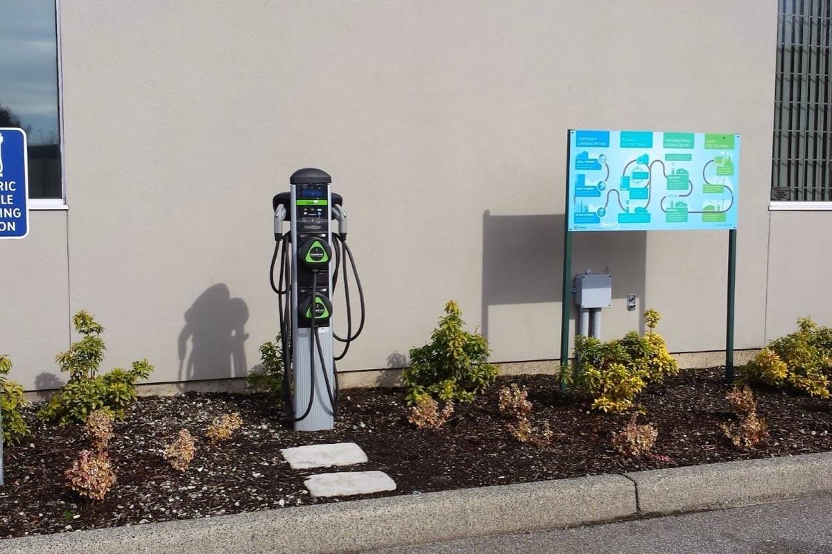 Vehicle charging stations are generally used at night, when electricity demand is lower. (Black Press files)
