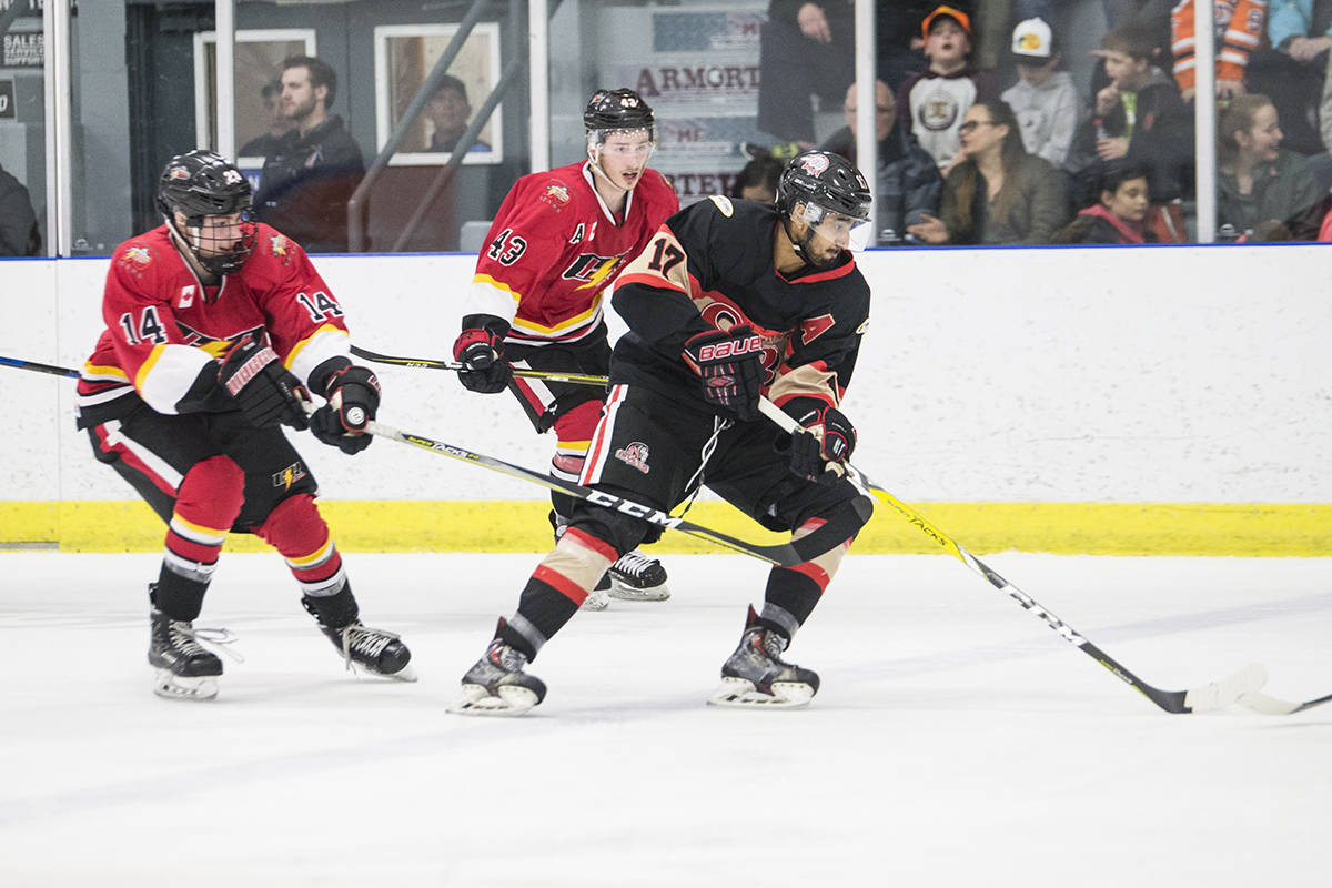 The Campbell River Storm lost game five against of the final series against the Saanich Braves last night. Photo by Jocelyn Doll/Campbell River Mirror