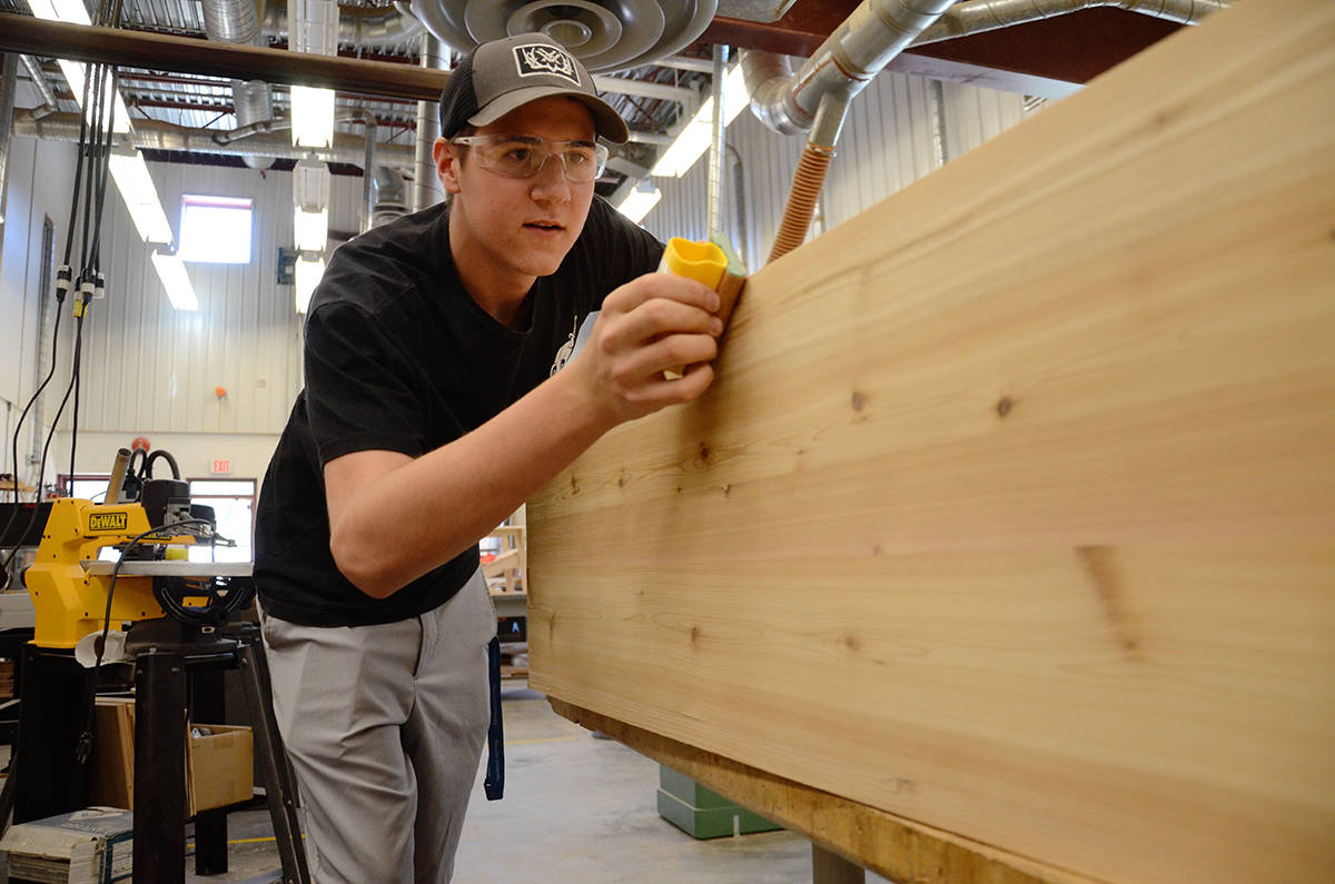 Timberline student Dawson Vanderwiel is off to the Skills Canada nationals in Edmonton in June 3 to 6. Photo by Mike Chouinard/Campbell River Mirror