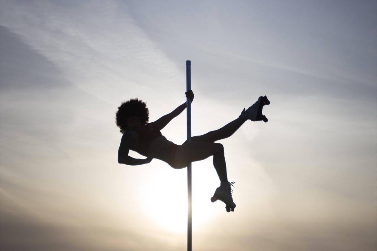 Glenny Davidson, seen here, her students and several national champs will perform at a disco-themed pole dance event at Errington hall on June 2. — Melissa Dayman-Langen Photo