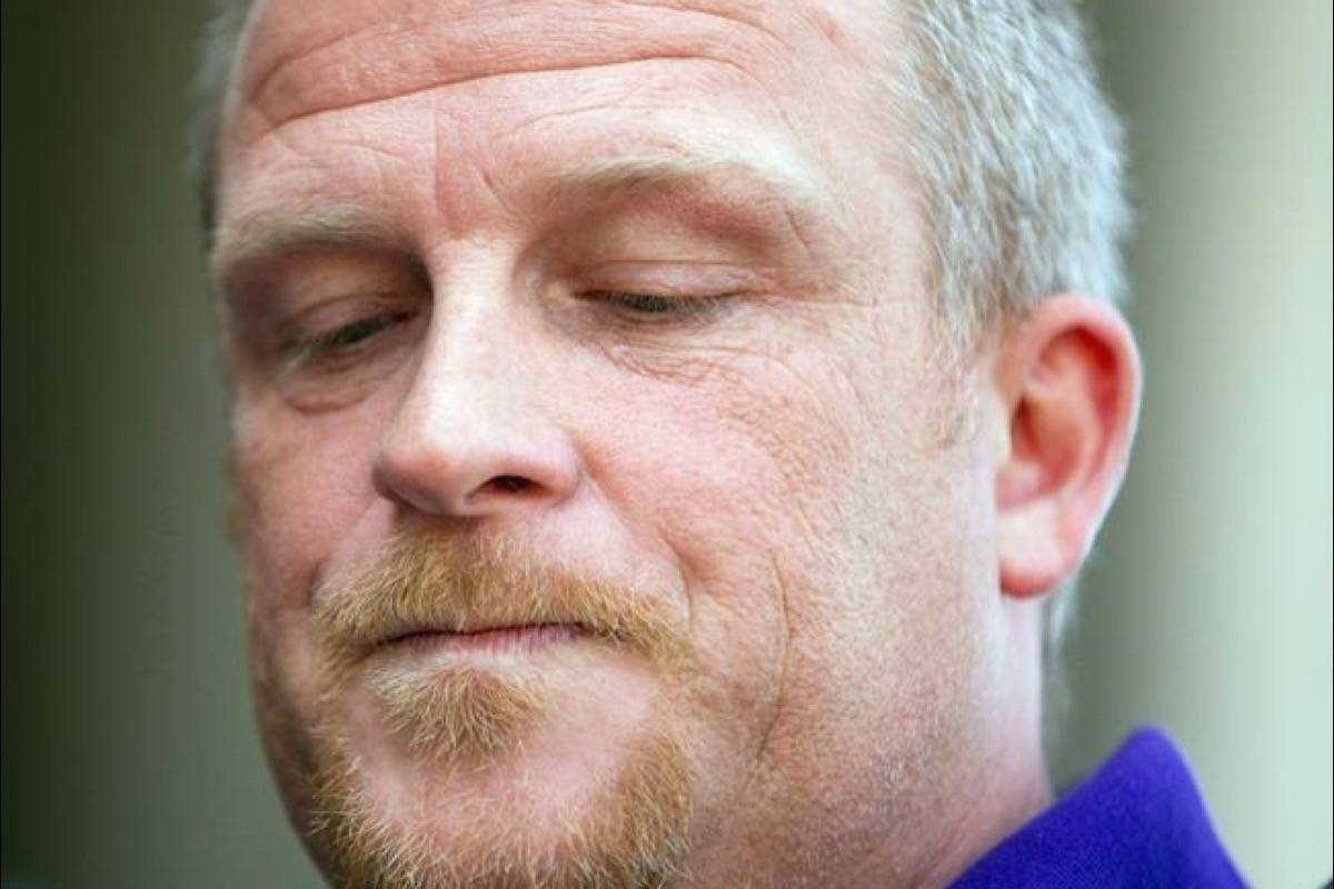 Rodney Stafford, father of slain eight-year-old Woodstock girl Victoria Stafford, reads his victim impact statement to the media following Michael Rafferty's sentencing hearing in London Ontario, Tuesday, May 15, 2012. Rodney Stafford says his daughter Victoria's killer Michael Rafferty has been transferred from a maximum-security prison to a medium-security penitentiary. (Geoff Robins/The Canadian Press)