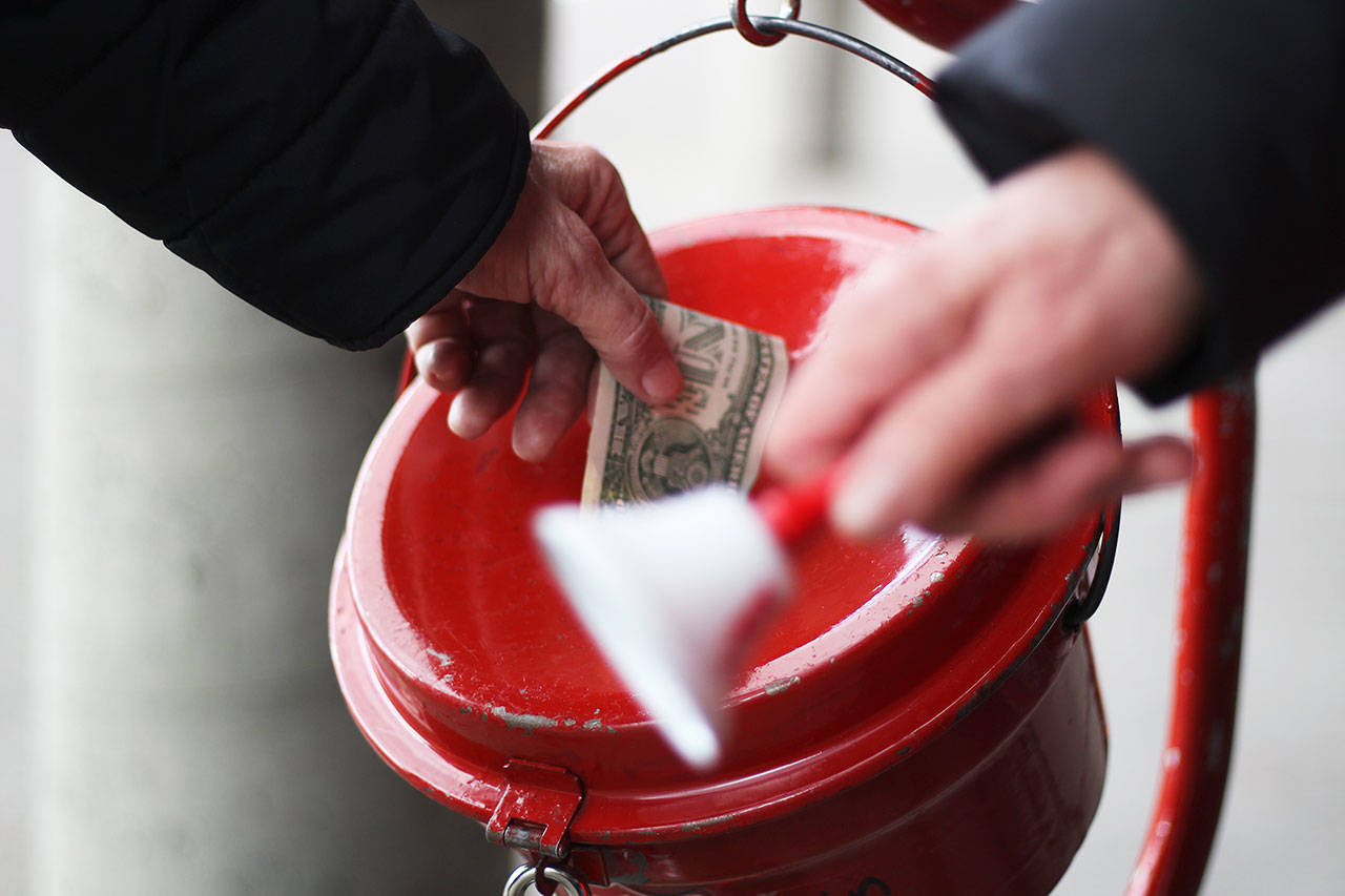 """'Tis the season for charitable giving. If you have questions or concerns about any charitable organization, you can find tips on how to """"give smart"""" at www.atg.wa.gov/charities or by contacting the Secretary of State's office at (800) 332-4483 or charities@sos.wa.gov. Photo by Ray Miller-Still"""