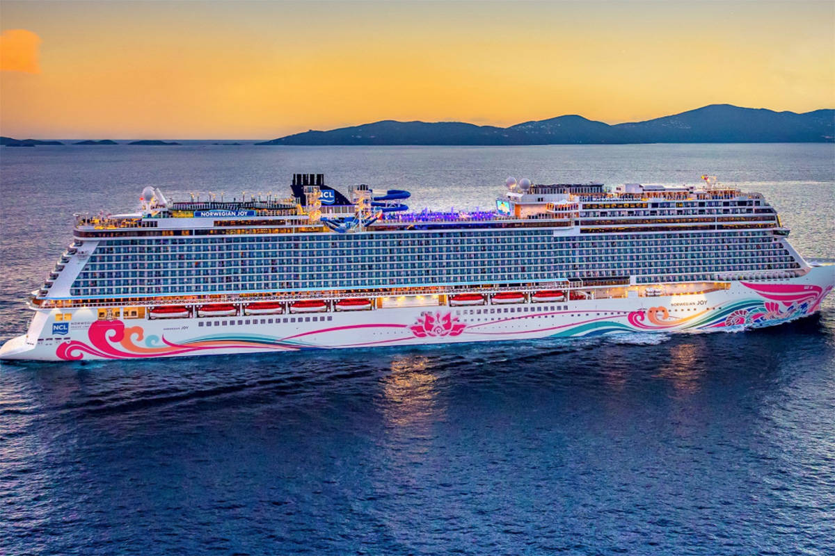 The Norwegian Joy is one of the vessels that will be docking in Victoria thanks to a 12-year contract with the Greater Victoria Harbour Association. (Twitter/Norwegian Cruise Line)