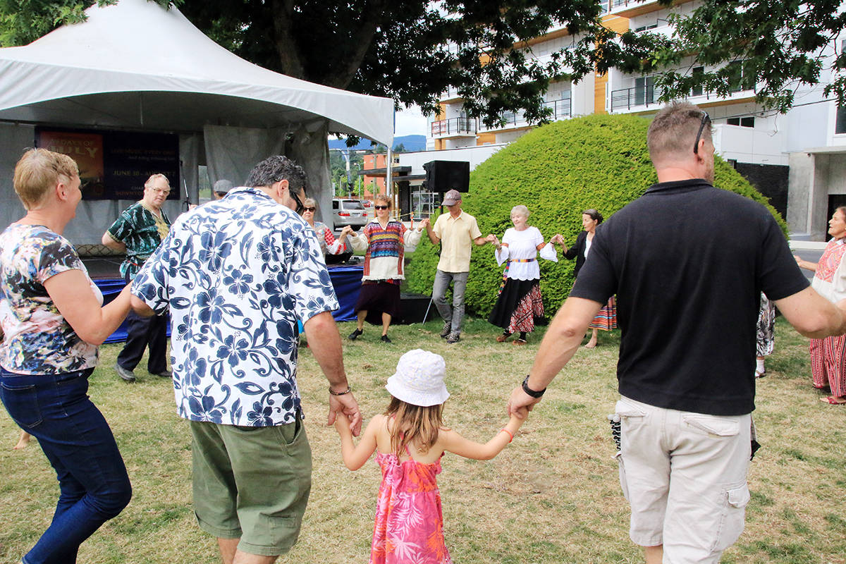 There are lots of chances to dance at the 39 Days but also sometimes kids need to be quiet so the performer on stage gets a chance to show his or her talent. (Lexi Bainas/Citizen)