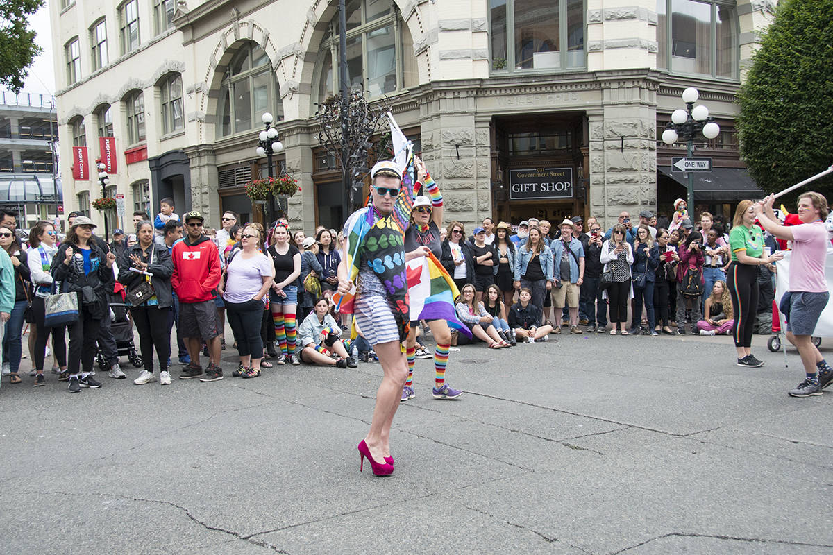 The 26th annual Victoria Pride Parade filled downtown streets with glitter, music, rainbows and joy Sunday morning. (Nina Grossman/News Staff)