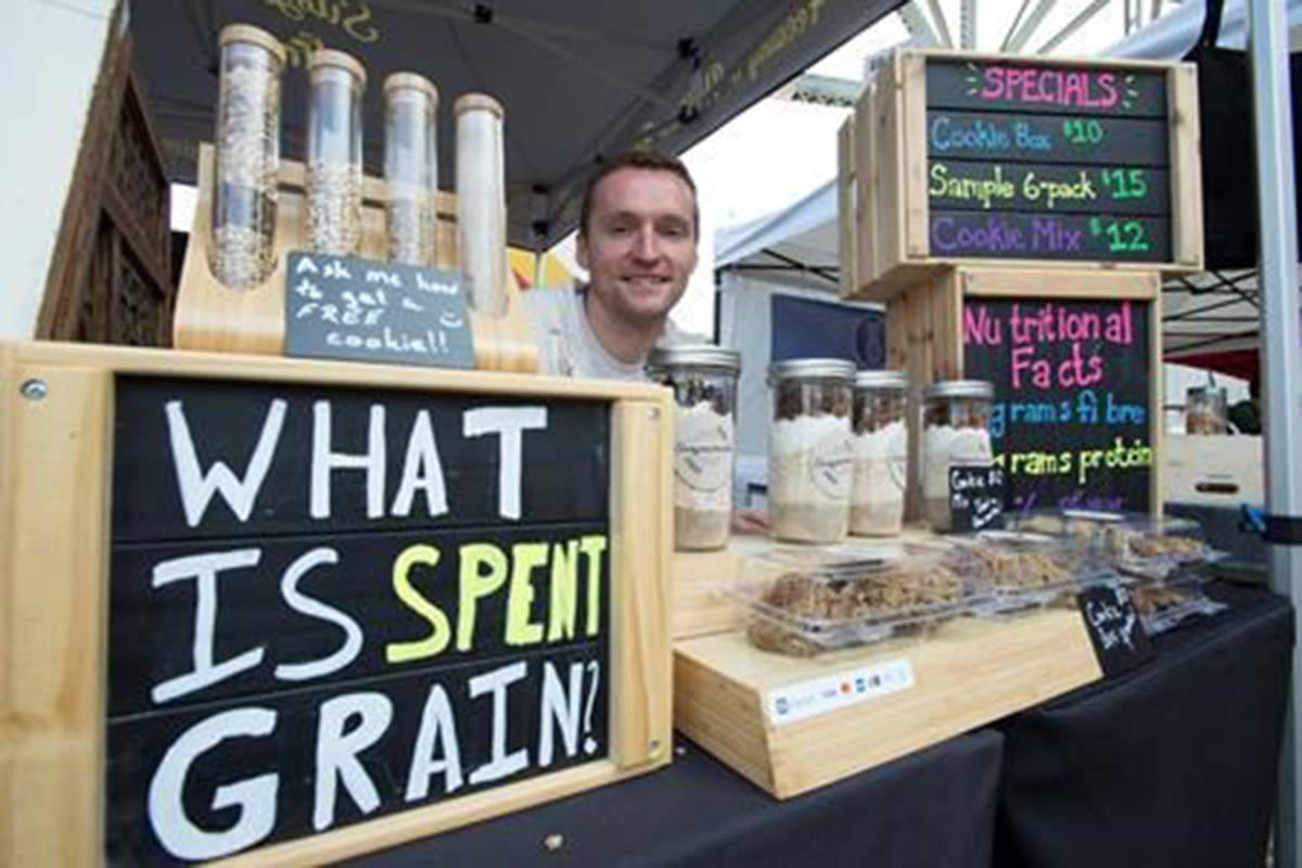 Marc Wandler, President of Susgrainable is pictured at his tent on Granville Island in Vancouver, Tuesday, July 16, 2019. THE CANADIAN PRESS/Jonathan Hayward