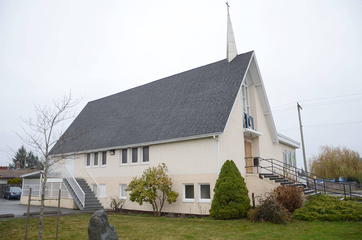 Faith Lutheran received a couple of offers for Christmas trees this year after someone stole the one in front of the church they had planned to use this holiday season. File photo/Comox Valley Record