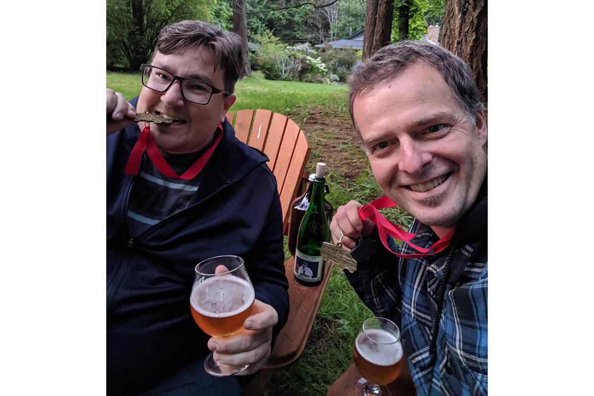 Chris Frederiksen and Alex Blais celebrate Vanbrewer competition success. The Lazo Barrel Collective is a collaborative brewing project founded by Alex Blais, Adam Crysler, Ryan Steffler and Chris Frederiksen.
