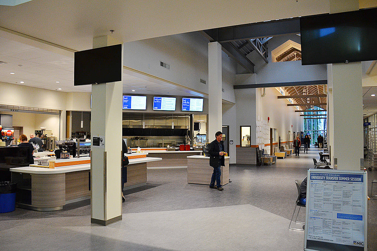 North Island College Campbell River campus main foyer/cafeteria. Photo by Alistair Taylor – Campbell River Mirror