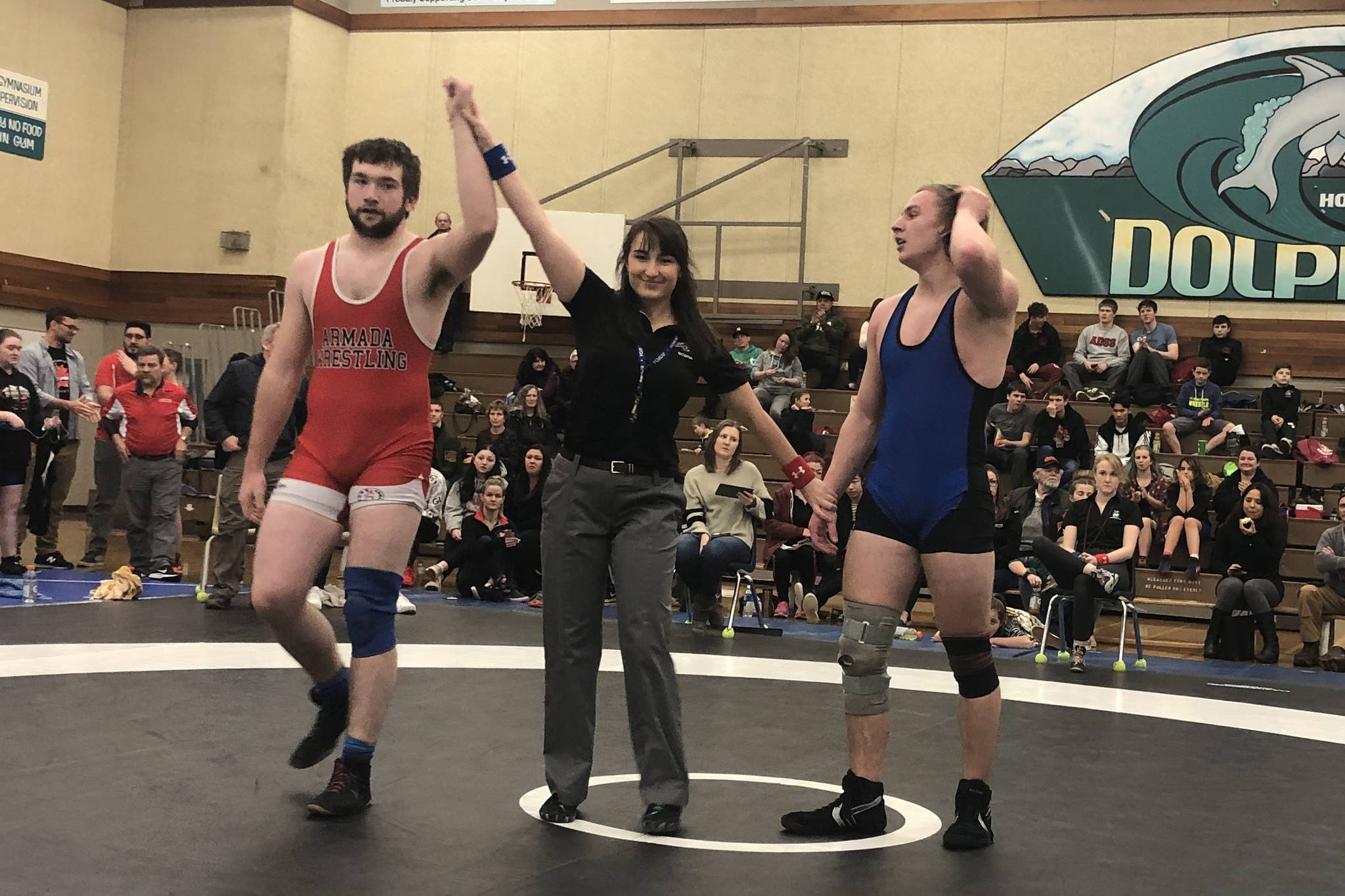 Scott Coulthart (in red) went undefeated last weekend to win gold in his division. (SUBMITTED PHOTO)