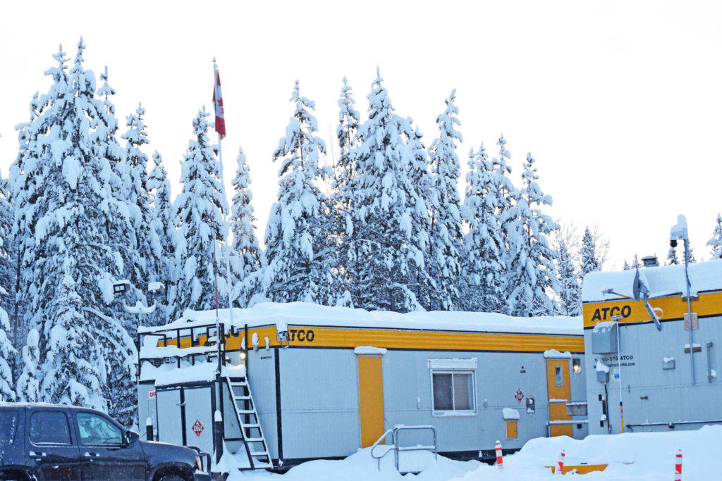 The RCMP mobile office was closed Jan. 21 but patrols continued along Morice West Forest Service Road. (Trevor Hewitt photo)