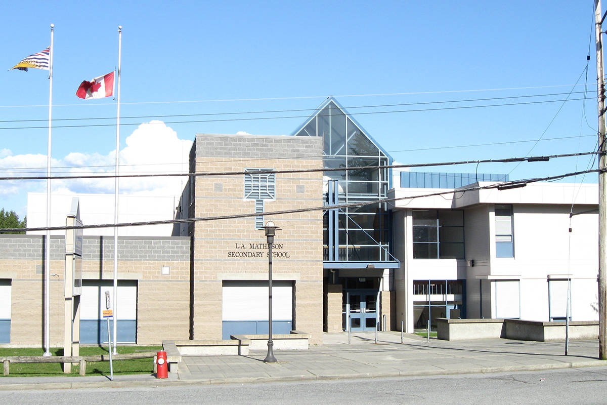 L.A. Matheson Secondary School in Surrey. (Photo: wikipedia.org)