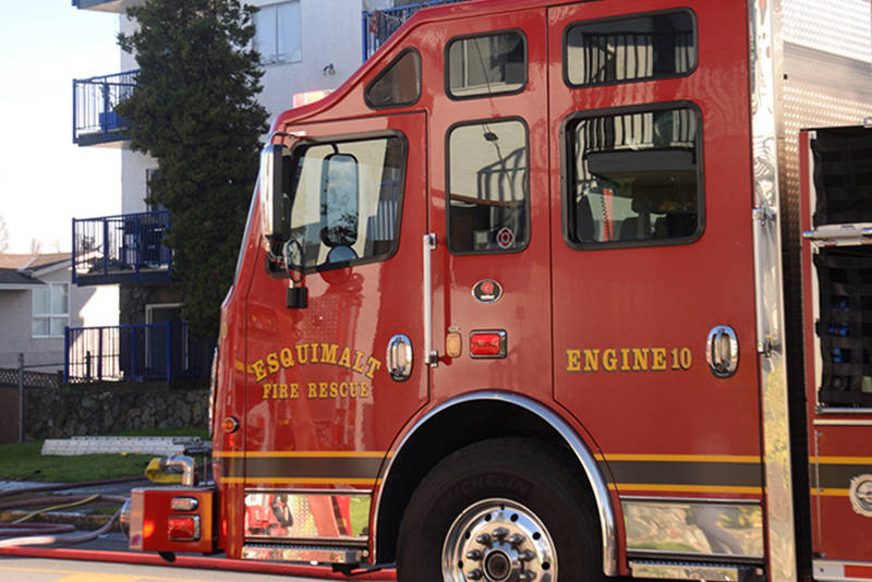 The union representing Victoria firefighters has expressed disapproval for Esquimalt Fire Rescue's participation in a crowd management unit at the Sunday rally in support of Black Lives Matter. (Black Press Media file photo)