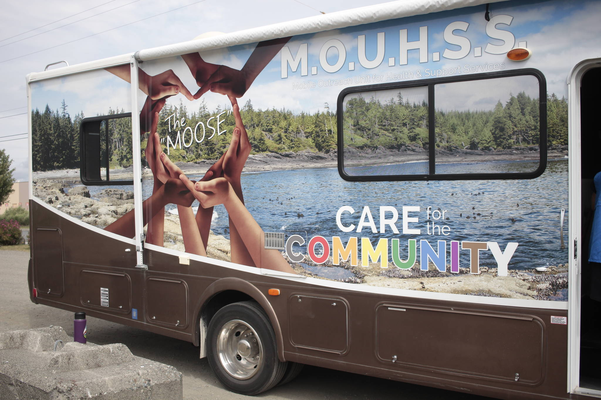 MOUHSS stands for Mobile Outreach Unit for Health and Support Services, and takes a holistic approach to health. Photo by Marc Kitteringham, Campbell River Mirror