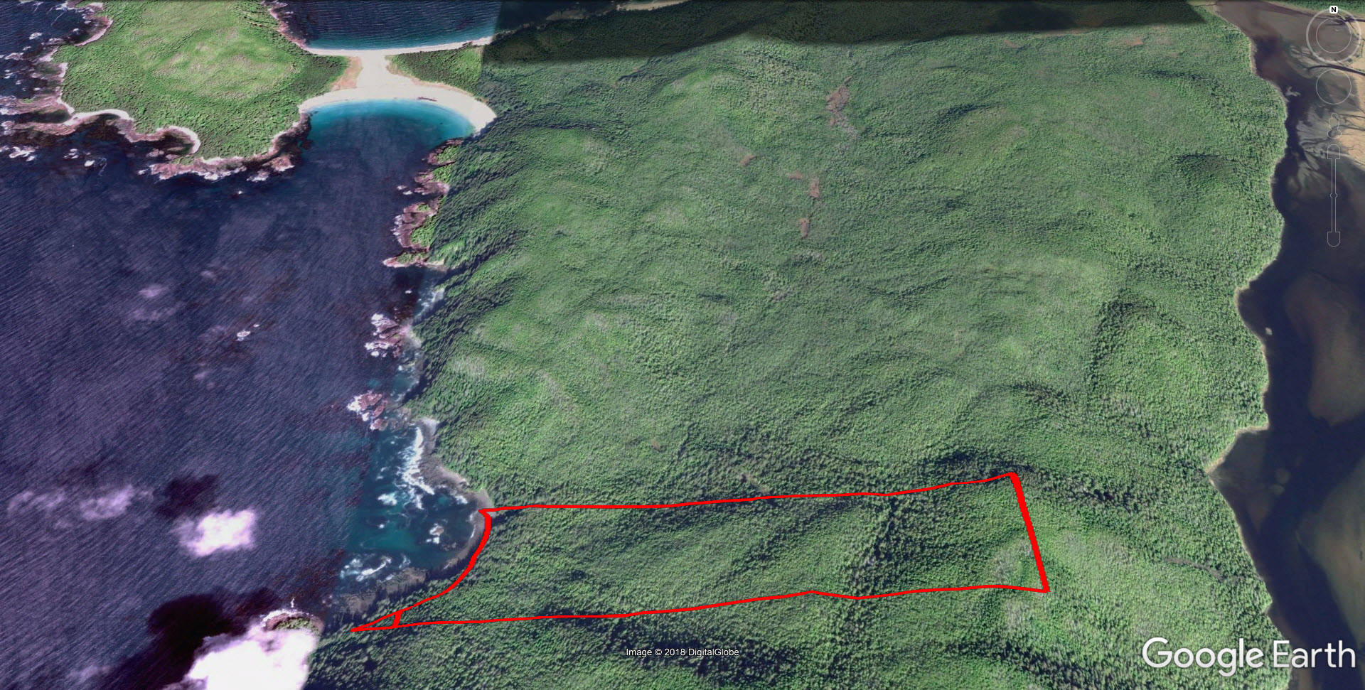 One of two plots of land in Cape Scott that are now owned by BC Parks. (NIHO photo)