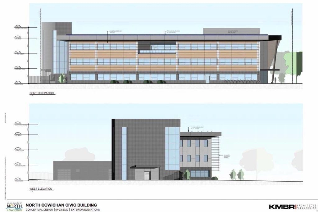 Cowichan's new RCMP detachment will now be constructed out of structural steel instead of mass timber, as originally planned, as a cost saving measure. (File graphic)