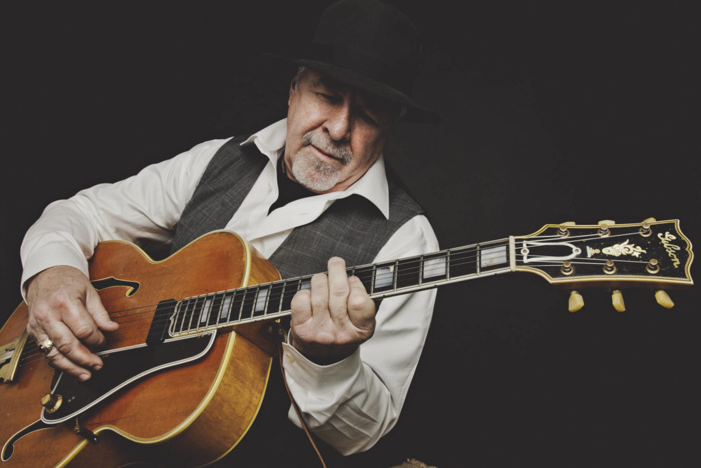 Legendary Vancouver-based blues and jazz guitarist and vocalist Jim Byrnes will perform live at the Tidemark Theatre in a concert that will also be streamed. Contributed photo