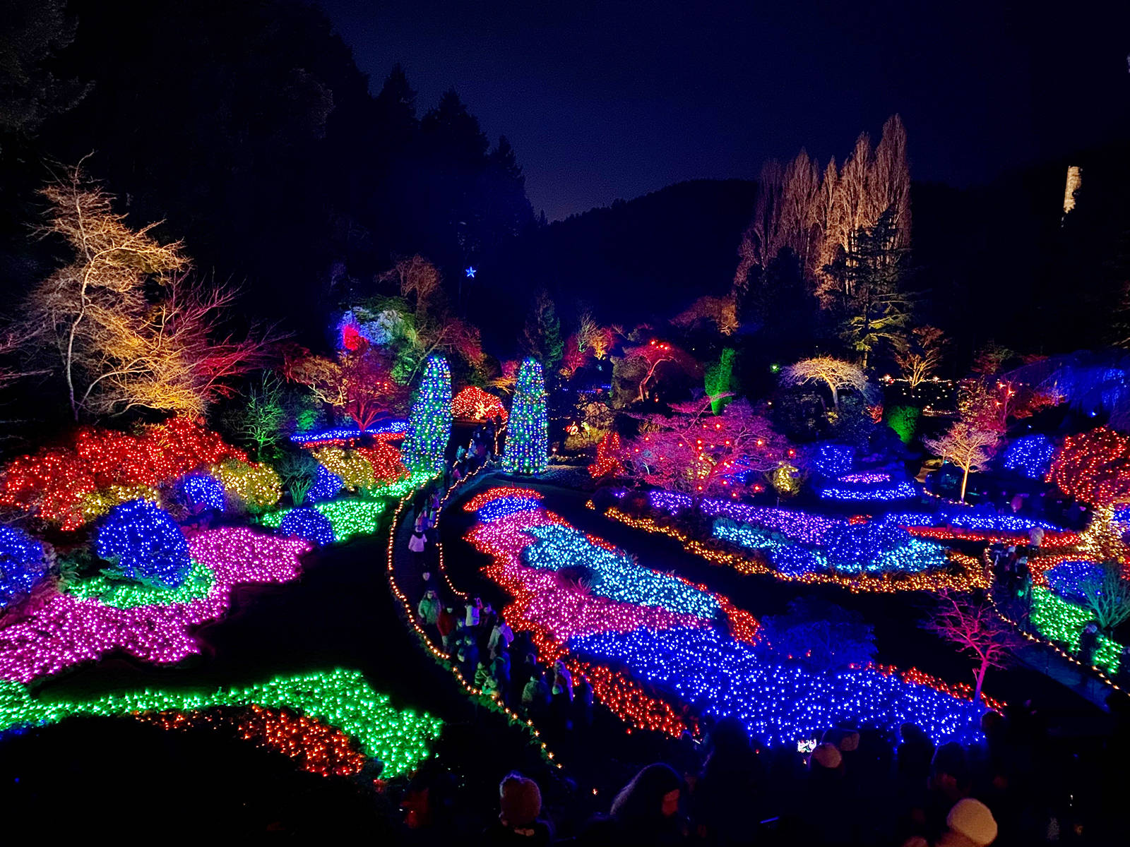 The Sunken Garden is one of the most-photographed parts of The Butchart Gardens no matter what the season. Jen Blyth photo.