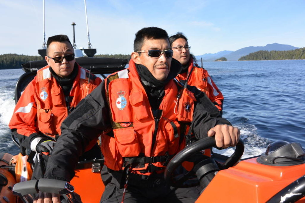 Coastal Nations Coast Guard Auxiliary photo Members of the Coastal Nations Coast Guard Auxiliary participate in search and rescue training in the fall of 2019. The federal government is financing the purchase of two new vessels and equipment for two auxiliary units in the Nisga'a and Ahousaht Nations.
