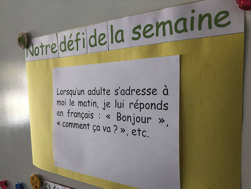 The Cowichan Valley's first francophone school, École Duncan, opened its doors this September. (Kevin Rothbauer/Citizen)