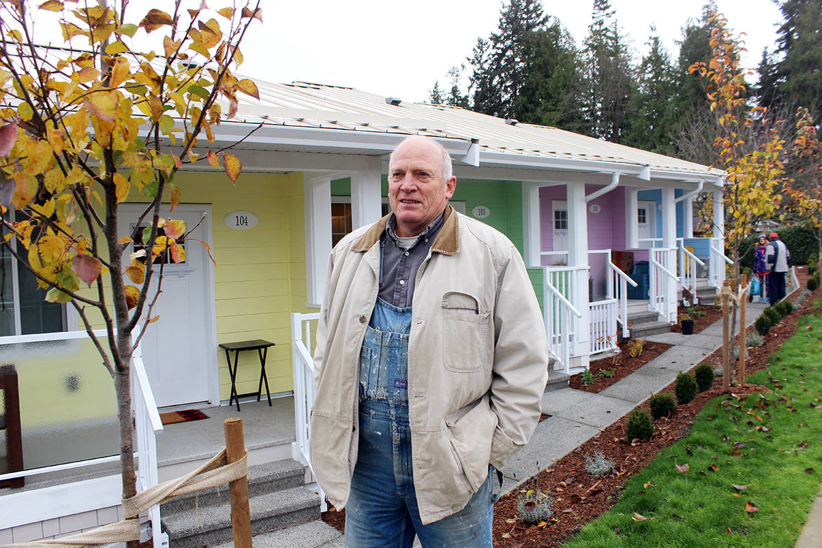 Jon Lefebure went back to construction after losing the 2018 mayor's post in North Cowichan to work on the Cottages On Willow. (Photo by Don Bodger)