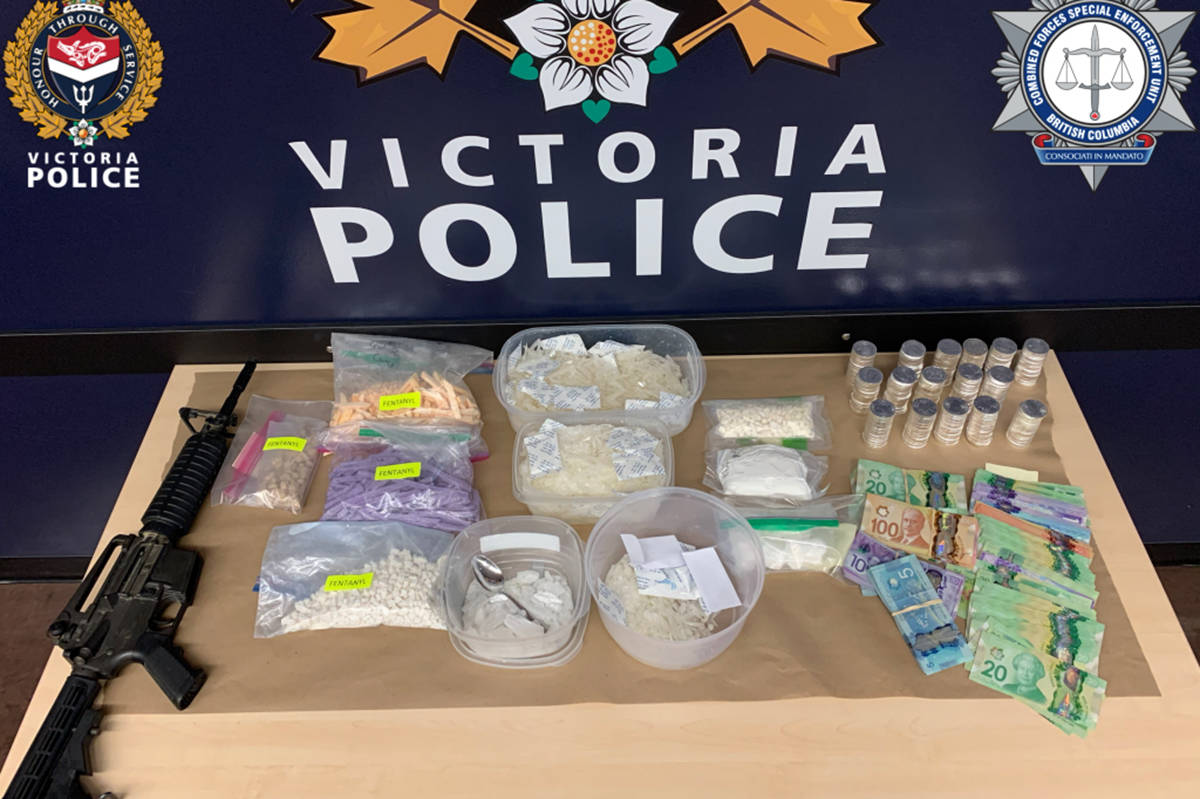 Victoria police seized $30 million in fentanyl, drugs, cash and firearms during Project Juliet. (Victoria Police Department)