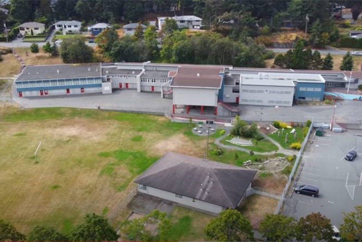 View Royal Elementary, located along Helmcken Road, had a possible COVID exposure on Wednesday, Jan. 27, according to Island Health. (View Royal Elementary site)
