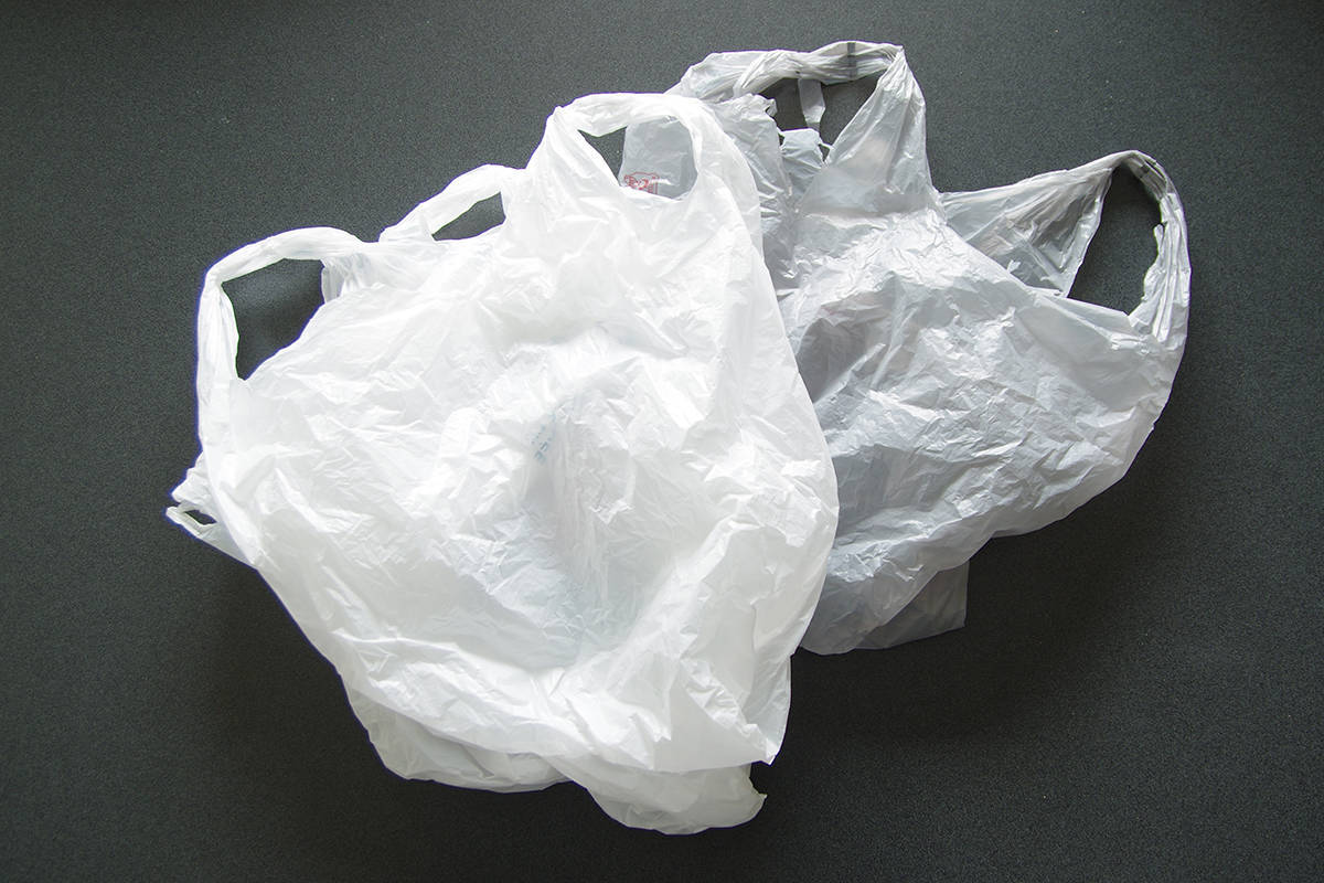 Single-use checkout bags are on the way out in Nanaimo as the city's bylaw regulating single-use checkout bags has received provincial approval. (News Bulletin file photo)