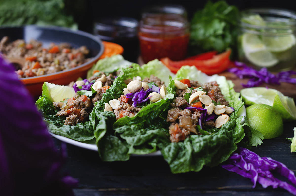 BC Agriculture in the Classroom Foundation's Spotlight Series on Duck is a multi-faceted educational tool for high school culinary arts students. Pictured here are ground duck Asian lettuce wraps. (Fraser Valley Specialty Poultry)