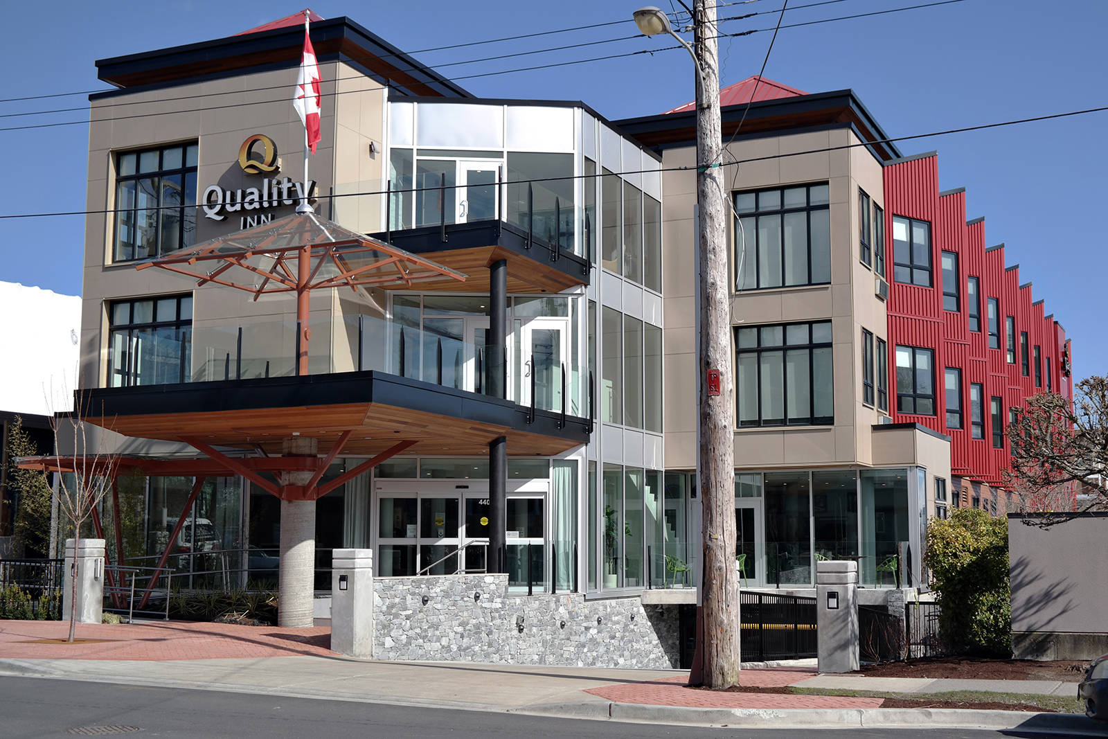 The Quality Inn, a 45-room boutique hotel, has opened on Selby Street in Nanaimo's Old City Quarter. (Chris Bush/News Bulletin)