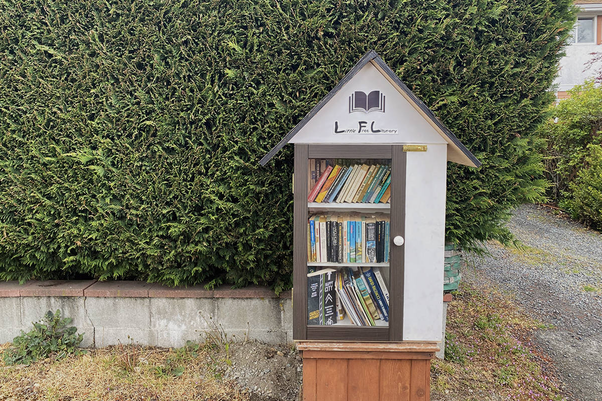 The NerdYurt is the latest little free library in the CRD, soon to be painted by students from Ecole John Stubbs School. (Zoe Ducklow/News Staff)