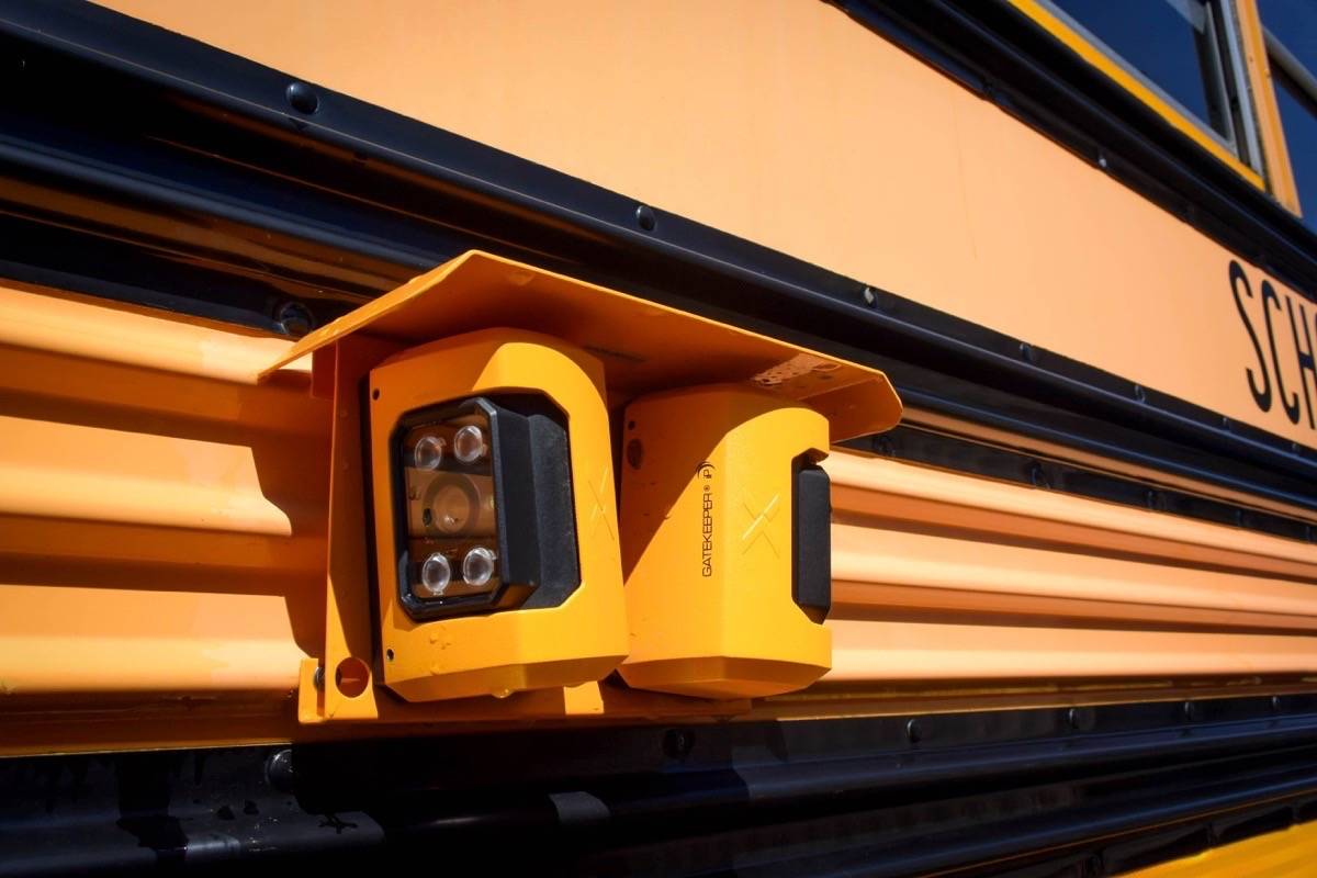 Exterior cameras have been installed on all Cowichan Valley School District buses. (Submitted)