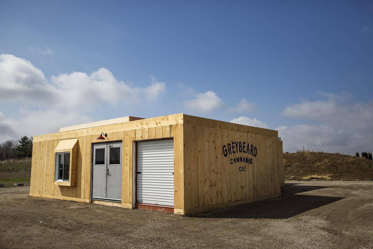 Thrive Cannabis's on-location storefront prepares to be Ontario's first farm-gate store, set to open this month in Simcoe, Ontario Tuesday, April 13, 2021. THE CANADIAN PRESS/Tara Walton