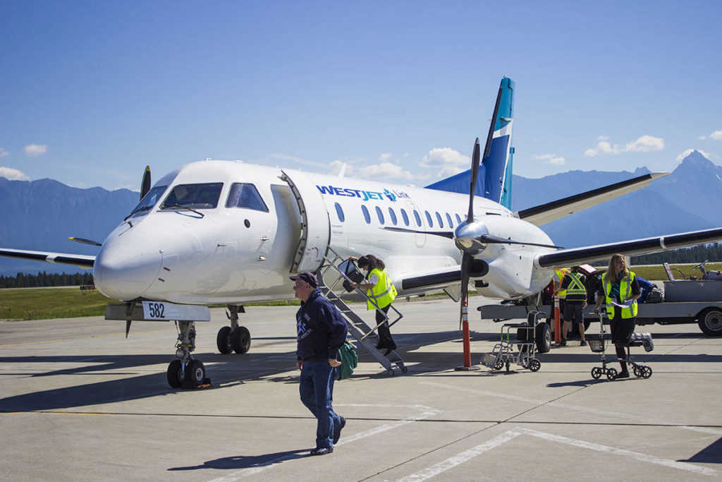 WestJet flight 3171 arrived in Comox on April 29 at approximately 11 a.m. It has been identified by the BC Centre for Disease Control with a COVID case aboard. (Black Press file photo)