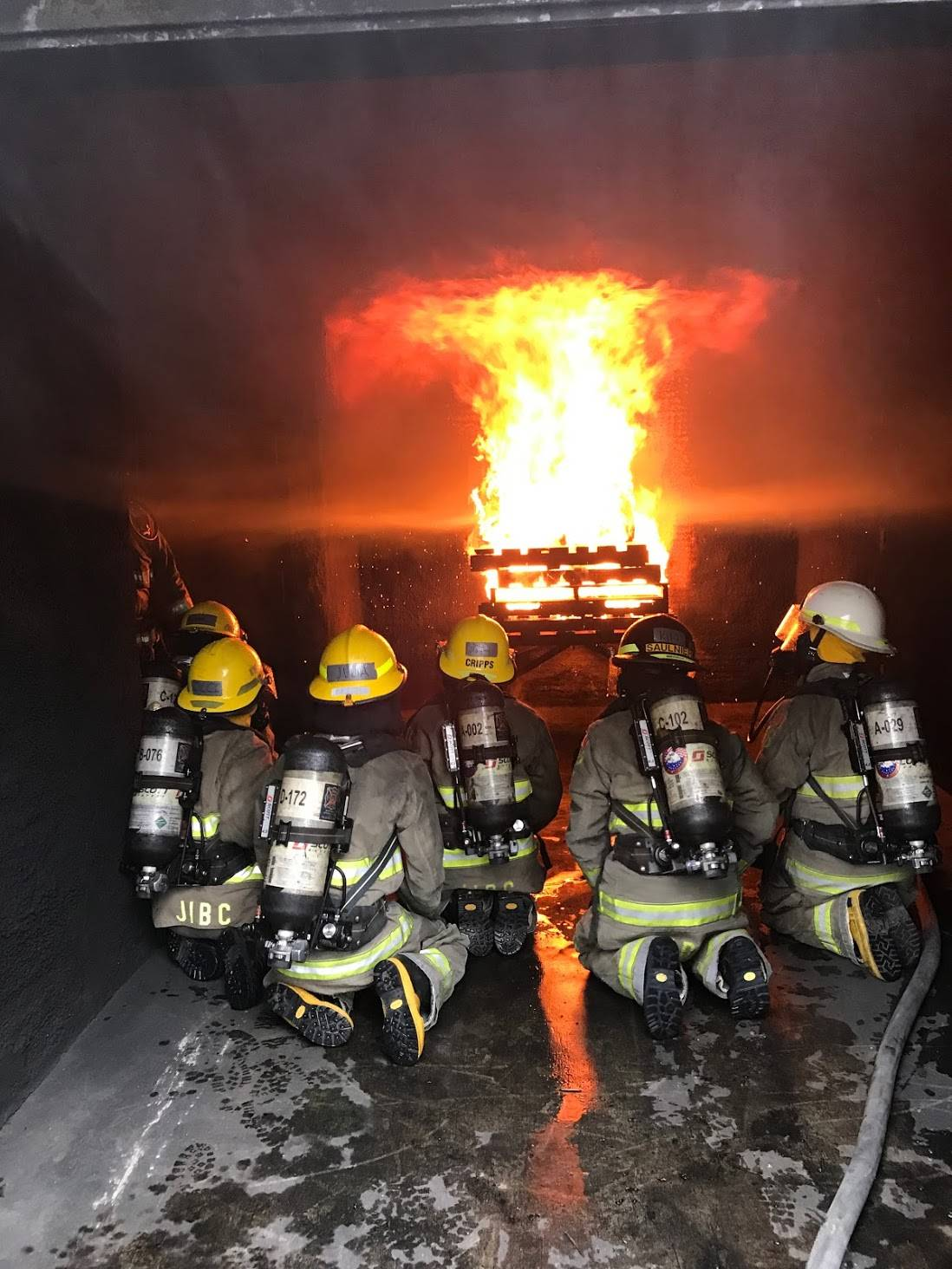 The camp culminates in a live fire exercise. Photo supplied by Camp Ignite