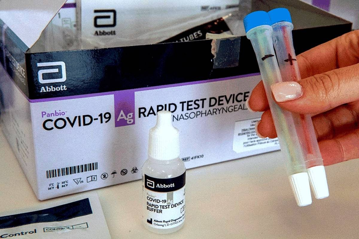 The University of British Columbia has launched a 13-week COVID-19 rapid testing clinic for students and a select group of people living and working on campus. THE CANADIAN PRESS/Frank Gunn