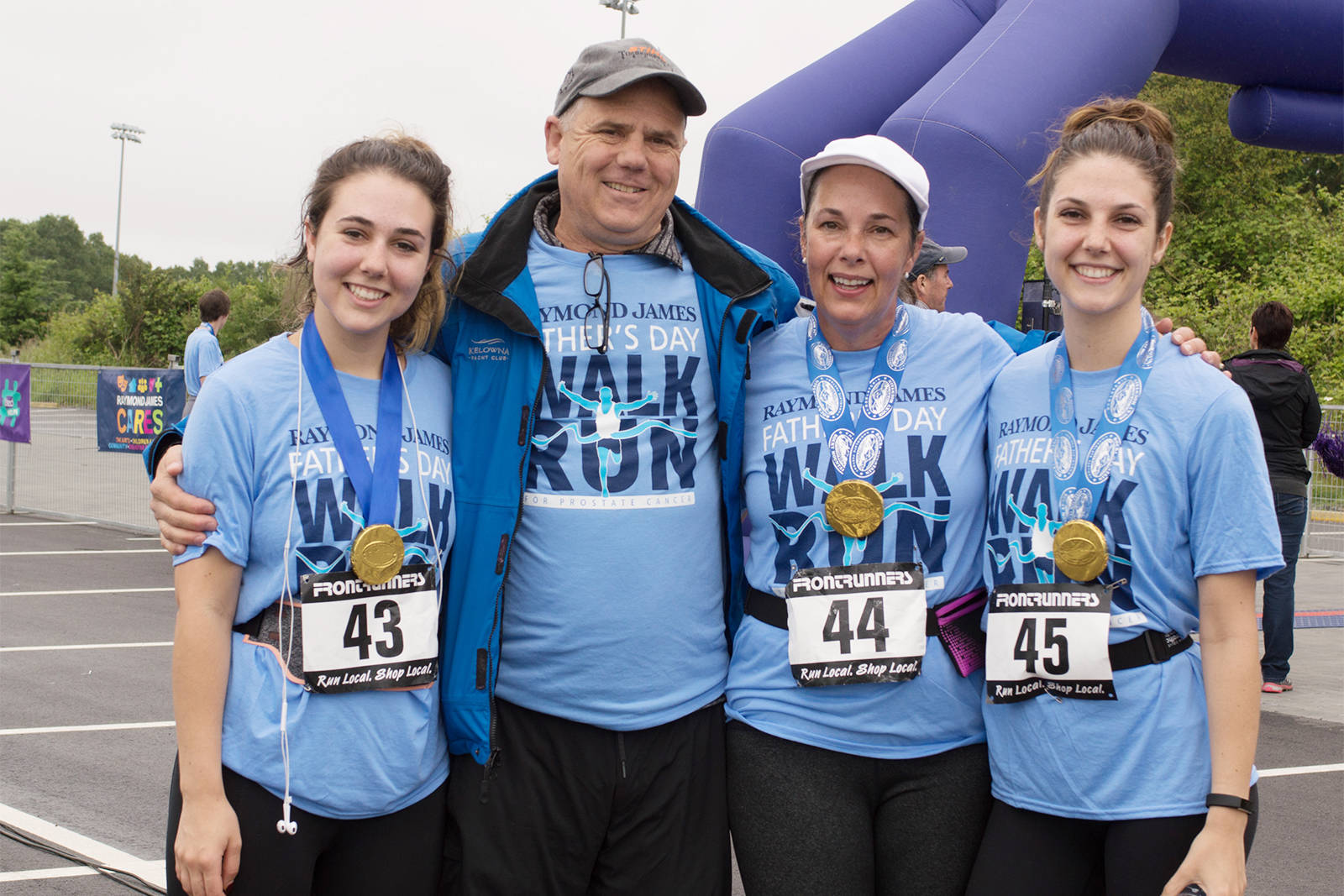 Participants in the annual Raymond James Father's Day Walk and Run for Prostate Cancer pose for a photo in 2020. This year's fundraiser is being held virtually given continued public health restrictions on gatherings. (Courtesy of Island Prostate Centre)