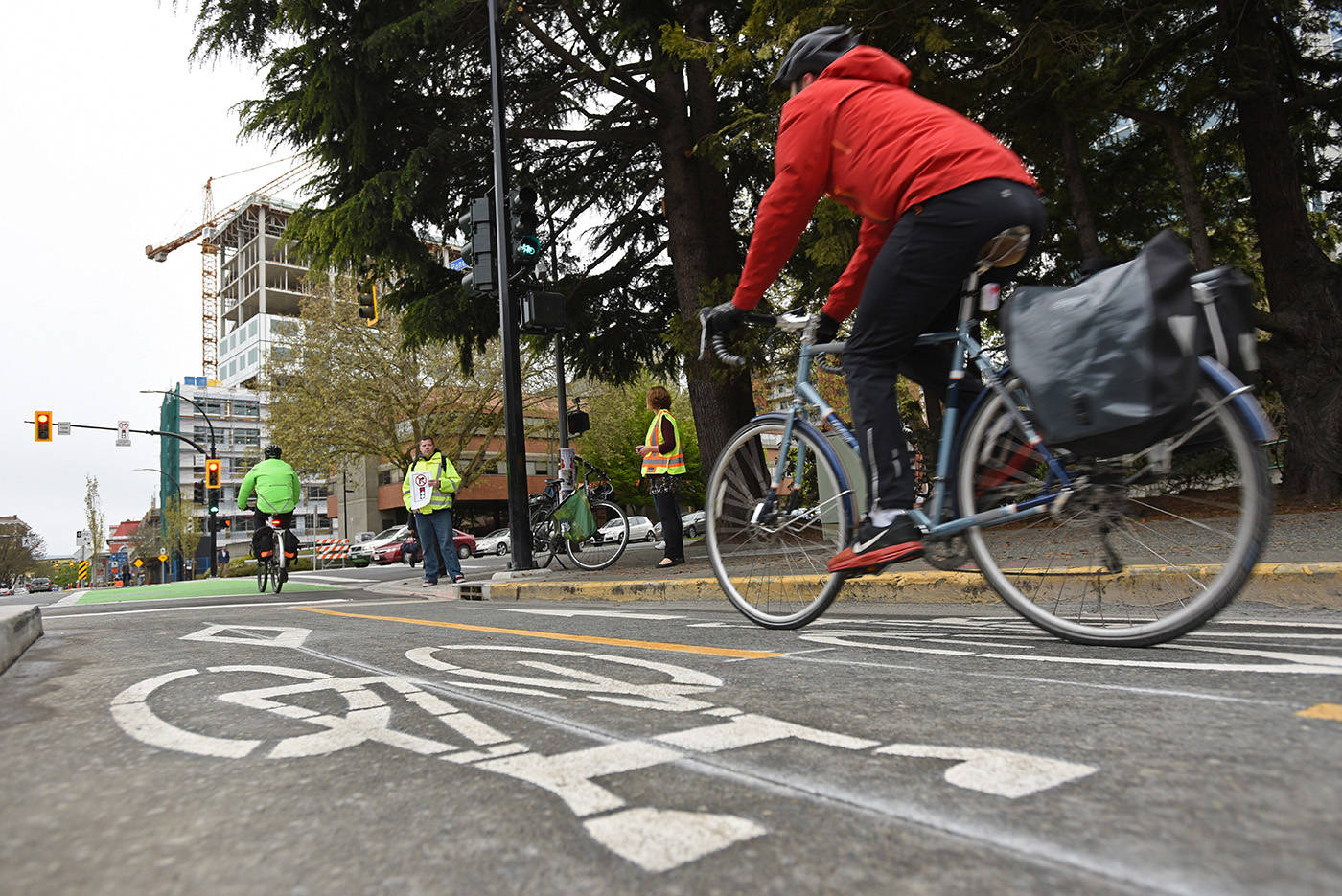 Staff will be reviewing public feedback from second-stage designs for cycling infrastructure in James Bay, part of the City of Victoria's 32-kilometre network. (Black Press Media file photo)