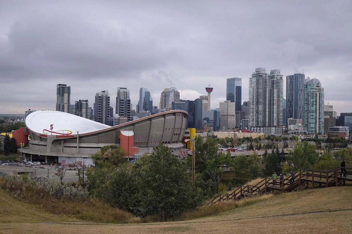 The Calgary skyline is seen on Friday, Sept. 15, 2017. THE CANADIAN PRESS/Jeff McIntosh