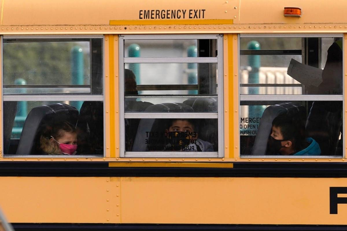 COVID-19 exposures have been reported at Colquitz Middle School and Tillicum Elementary School, both on June 14. (AP Photo/Nam Y. Huh, File)