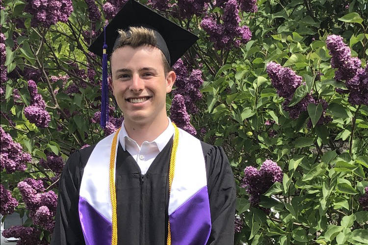 William Shaw, one of the valedictorians from the graduating class at Royal Bay Secondary, will attend the University of Victoria in September. (Photo contributed by William Shaw)