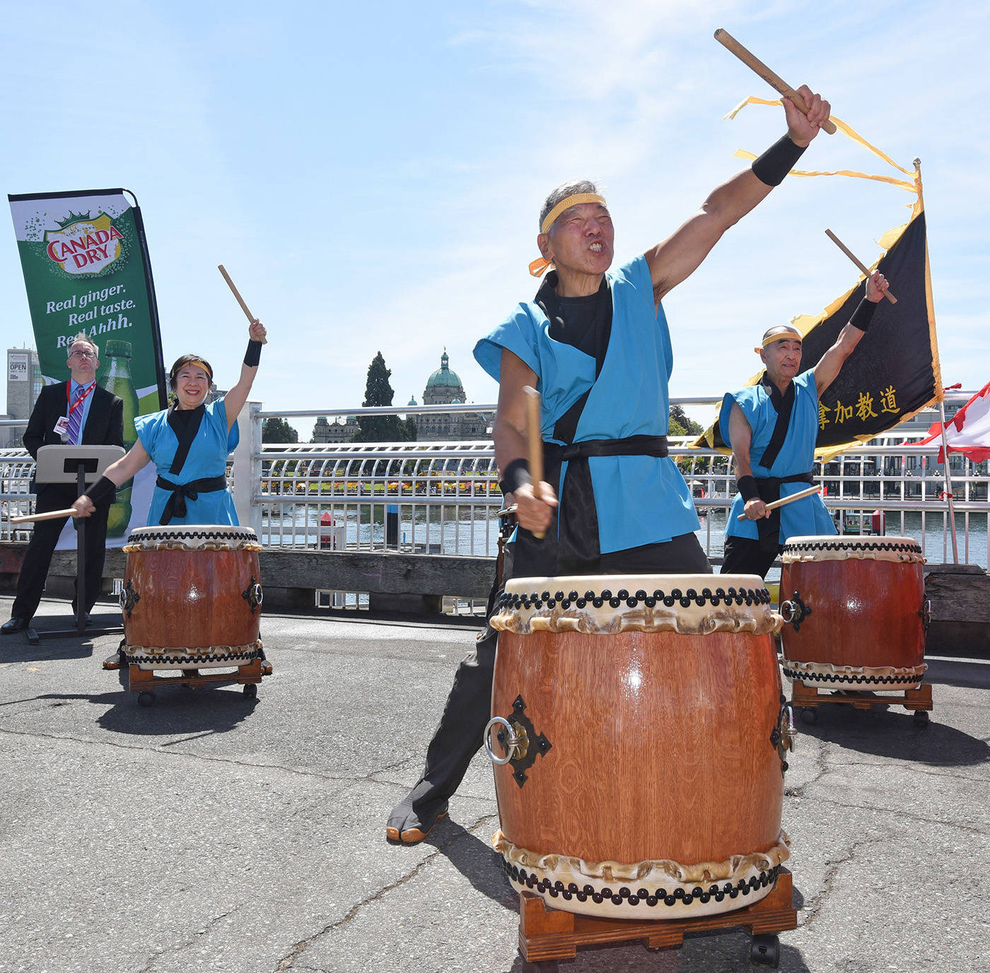 This year's Victoria Dragon Boat Festival includes a variety of cultural and educational components, similar to this performance by Taiko drumming group Uminara at a past festival. (Black Press Media file photo)