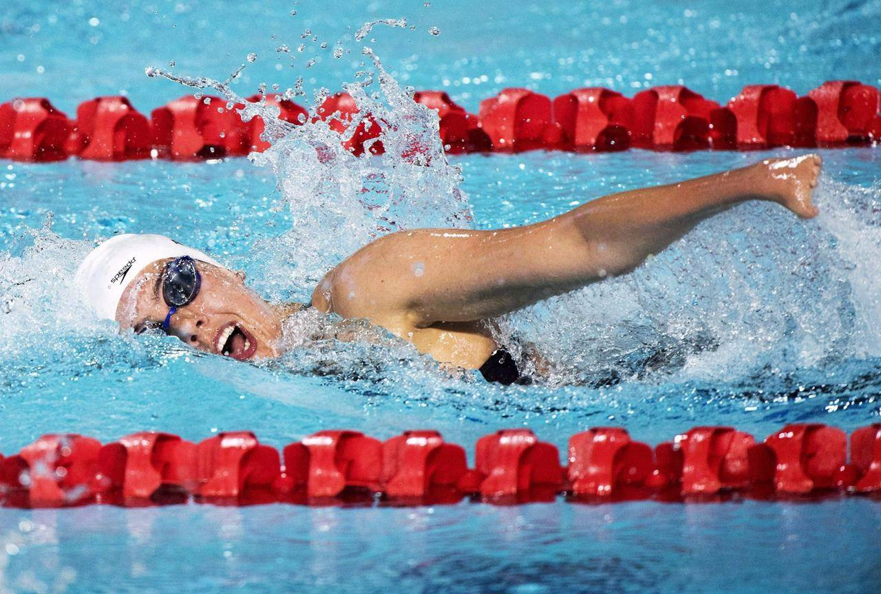Canada's Aurelie Rivard swims her way to a silver medal for the women's SM10 (Para) 200m Individual Medley during the swimming finals at the Commonwealth Games on April 7, 2018 in Gold Coast, Australia. THE CANADIAN PRESS/Ryan Remiorz