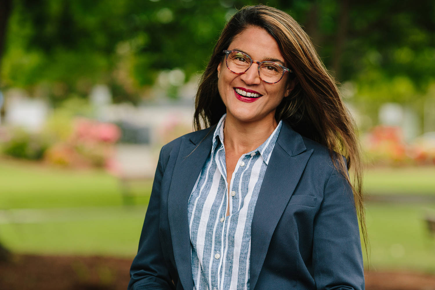 Sabine Singh is running for the second time as the standard-bearer of the federal New Democrats in Saanich-Gulf Islands. (Taylor Roades/Submitted)