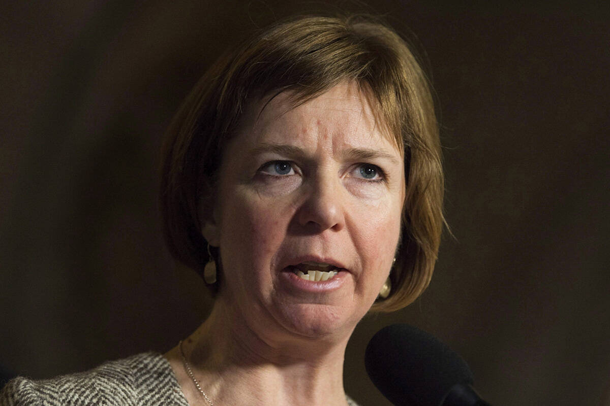 """NDP MLA Sheila Malcolmson says """"we are transforming mental health and substance use care in B.C."""" THE CANADIAN PRESS/Adrian Wyld file"""