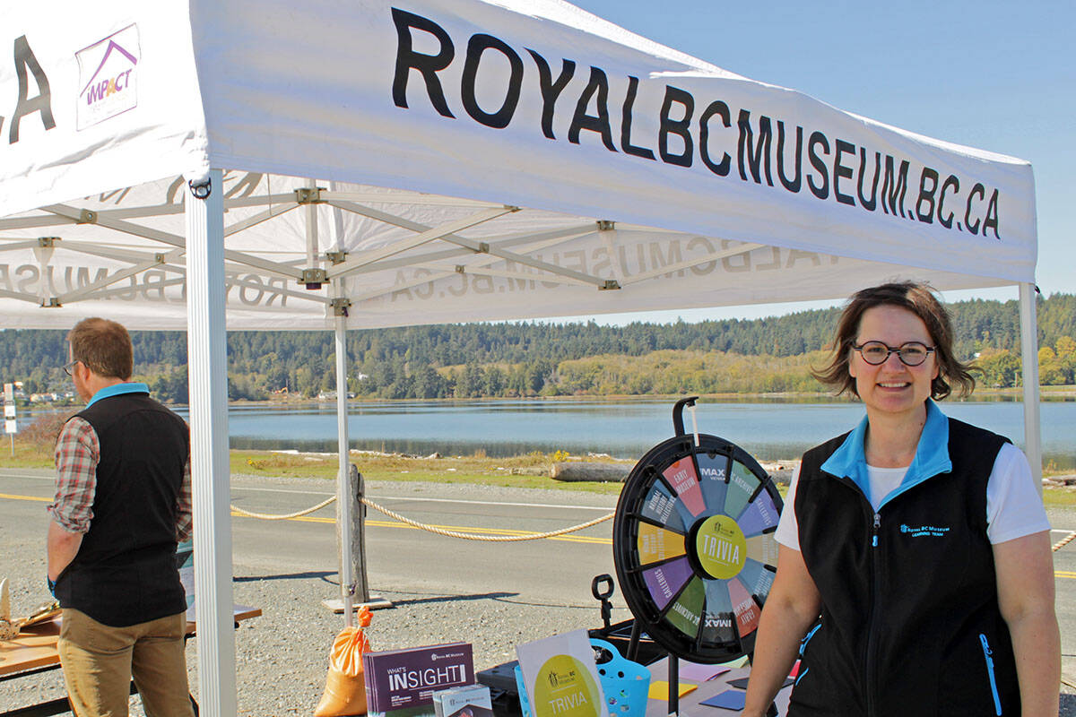 Kim Gough, the learning program developer at the museum, said the event presented an opportunity to bring the museum to Colwood. (Megan Atkins-Baker/News Staff)