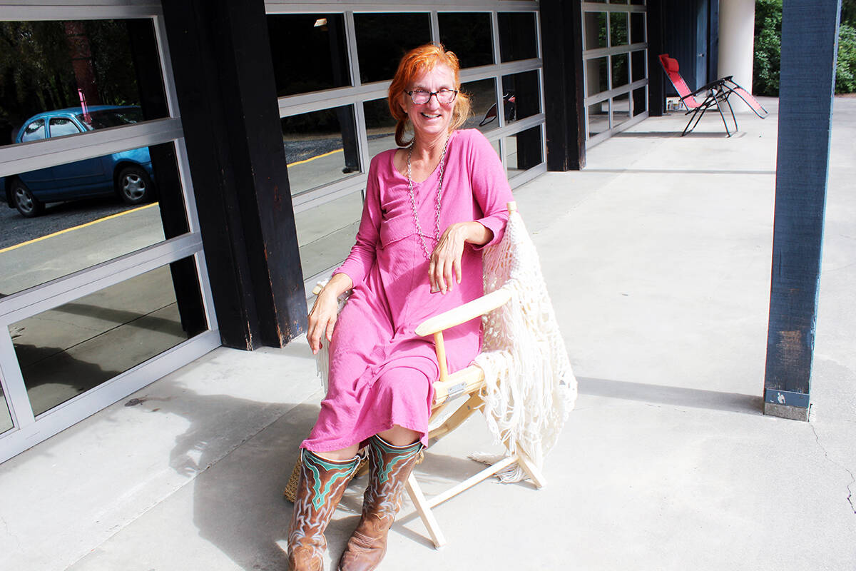 Barbara Allen sports red hair and cowboy boots that often leads to misconceptions about her. (Photo by Don Bodger)